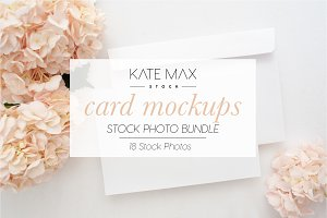 Blush Card Mockups Bundle