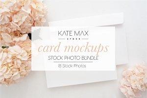 Blush Card Mockups Bundle