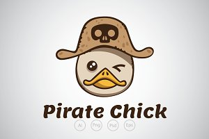 Pirate Chick Logo Template