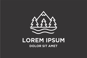Outdoor Mountain Logo Vector