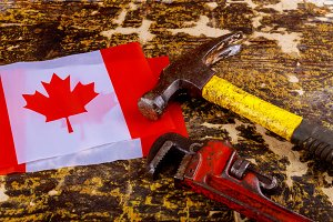 canada canadian flag labor day