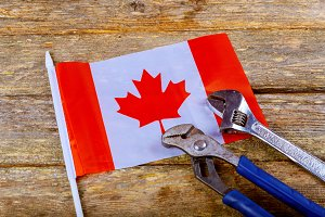 canadian flag labor day Wrench