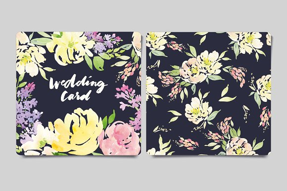 Greeting card and flower pattern