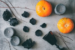 Halloween background, still life