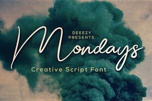 Mondays Script Font