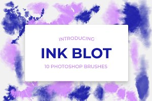 10 Tie-Dye Ink Blot Brushes