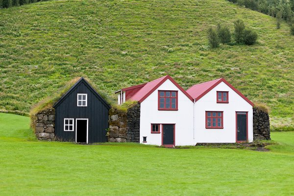 Stock Photos: Dvoevnore photos - Typical Rural Icelandic houses