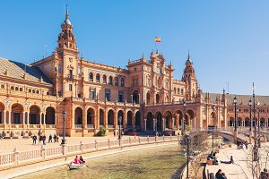 View of Beautiful Plaza de Espana, S
