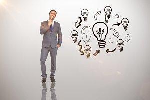 Image of thinking businessman
