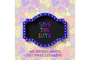 Save The Date+alphabet