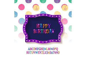 Birthday card+font