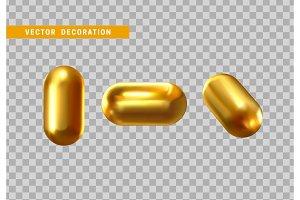 Golden capsule