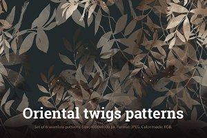 SALE: oriental twigs patterns | JPEG