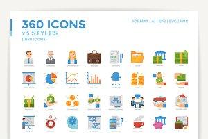 360 Icons x3 Styles