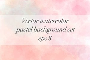 Vector watercolor background set