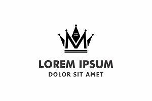 Crown House Logo Icon Vector