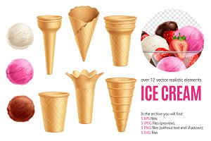 Sale! Ice Cream Realistic Set