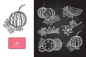 Hand Drawn Watermelons