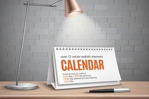 Sale! Flip Calendar Realistic Set