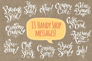 Shop Messages / Digi Stamps