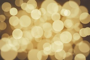 Golden bokeh abstract background