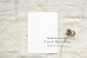 Mediterranean Style Card Mockup 5x7