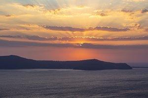 Beautiful and amazing sunset
