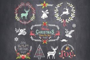 Vintage Christmas Chalkboard