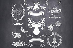 Chalkboard Christmas Clip Art