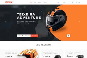 EVNX eCommerce Website PSD