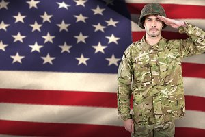 Portrait of confident soldier