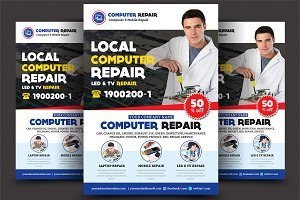 Computer & Mobile Repair Flyer