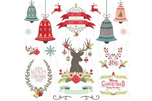 Christmas Design Elements Set