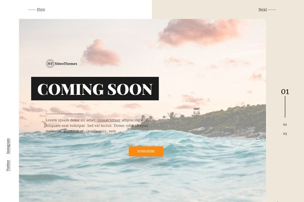 WordPress Landing Page Themes: NiteoThemes - Apollo - Coming soon Landing Page