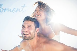 Composite image of happy couple