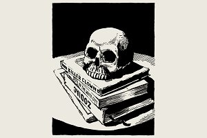 Exquisite Horror — Comic book skull