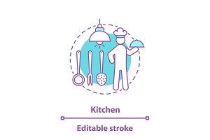Kitchen concept icon
