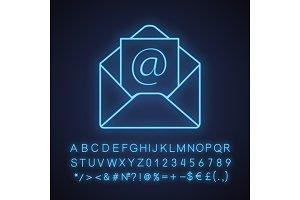 E-mail address neon light ico