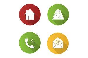 Information center icons set