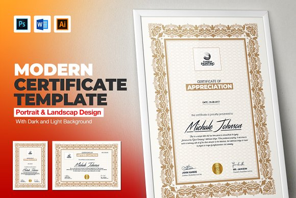 Certificate Template Stationery Templates Creative Daddy