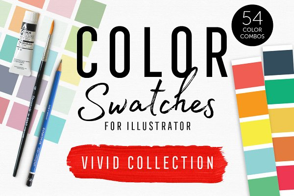 InDesign Color Palettes: Bold Leap Creative - Color Swatches - Vivid Collection