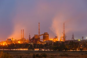 Heavy industry air pollution