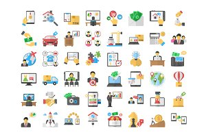 48 Business Purchase Flat icons
