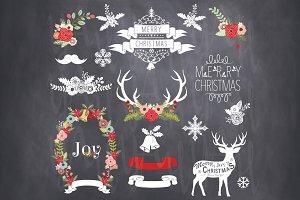 Vector  Christmas Chalkboard