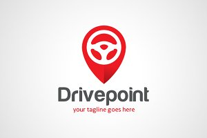 Drive Point Location Logo Template