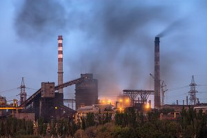 Heavy industry air pollution image