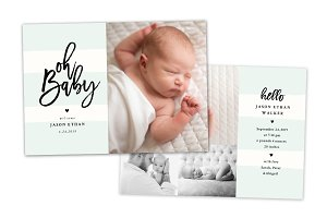 Birth Announcement Template CB143