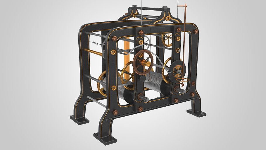 Tower Clock Mechanism