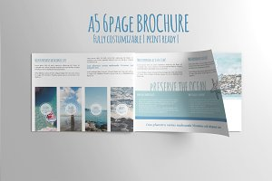 A5 6PAGE Preserve the Ocean Brochure
