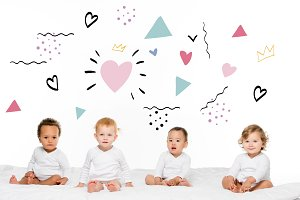 multiethnic toddler boys and girls